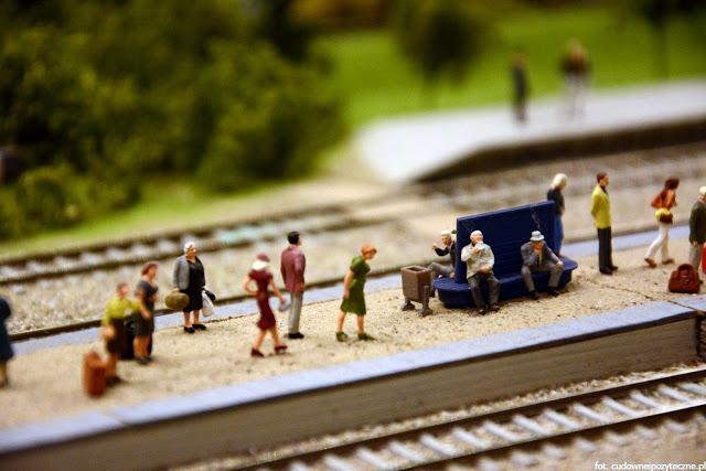Wielka makieta kolejowa - dworzec kolejowy