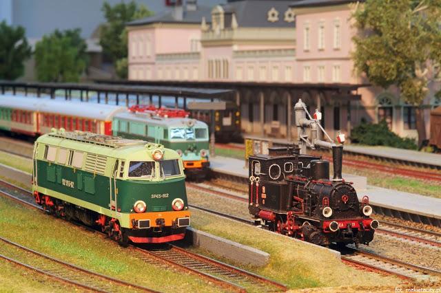 Wielka makieta kolejowa - modele pociągów