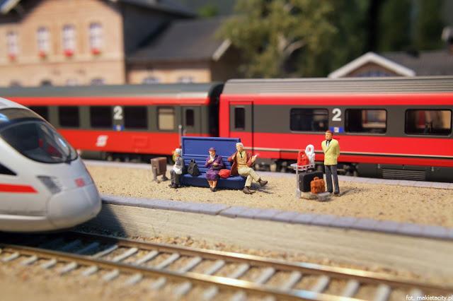 Wielka makieta kolejowa - malutki świat